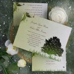 cheap rustic green tree country theme wedding invitations ewi040 as low as 0 94