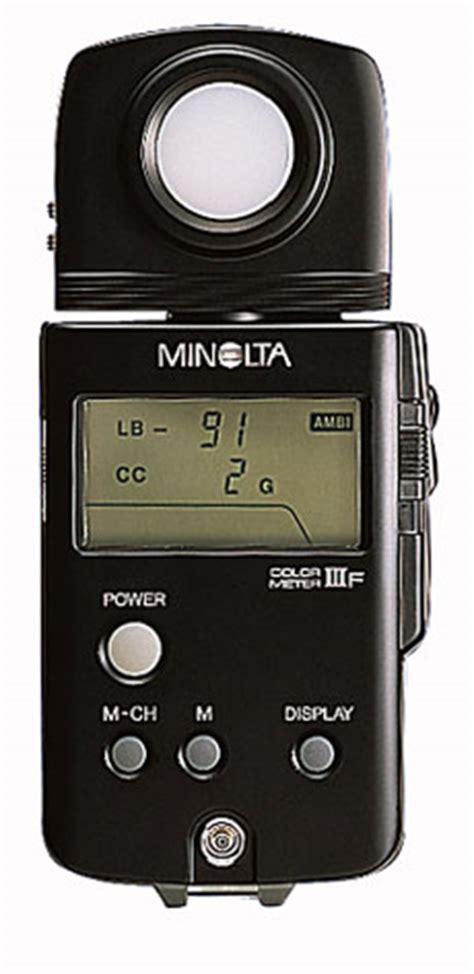 color temperature meter konica minolta color meter iiif digital ambient incident