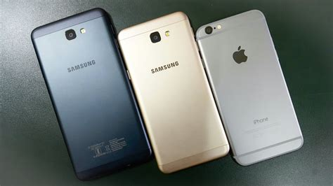 samsung j7 prime vs j5 prime vs iphone 6 mobile comparison