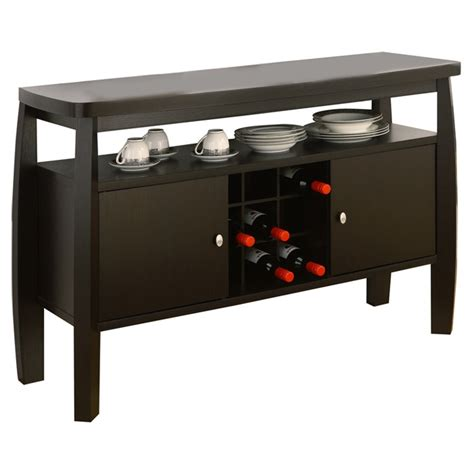espresso wood contemporary sideboard buffet server console modern dining room sideboard buffet server console table