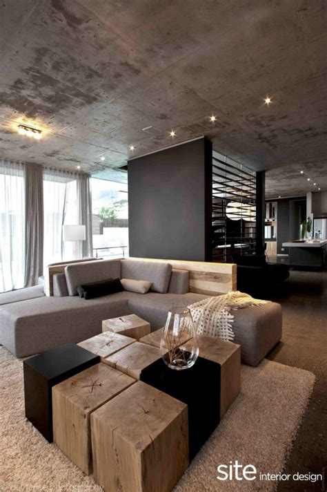 home interior sites stylish concrete interiors for contemporary homes