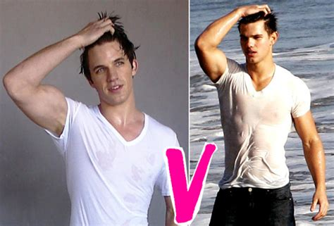 how to style my hair like taylor lautner taylor lautner v matt lanter it s a wet t shirt contest