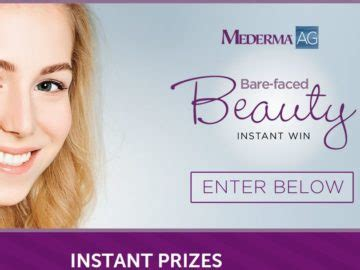 Mederma Instant Win - mederma ag bare faced beauty instant win and sweepstakes