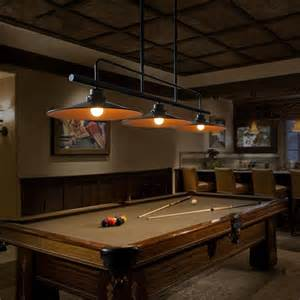 pool table lights three lid chandelier vintage american country loft style