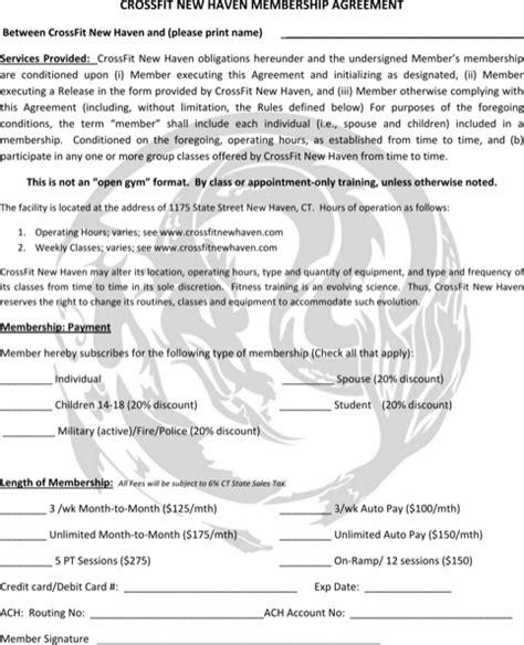 Download Gym Contract Template For Free Formtemplate Fitness Contract Template