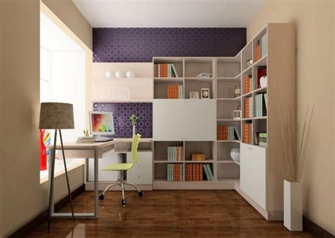 study room design wallpaper purple 3d house
