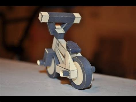 How To Make A Bike Out Of Paper - how to make a paper bmx bike