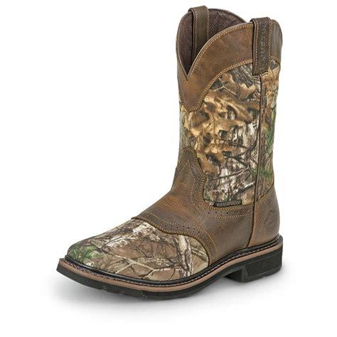 camo cowboy boots justin stede camo western boots brown 633380 cowboy