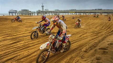 tvs motocross bikes mass dirt bike racing on hague beach red bull knock out