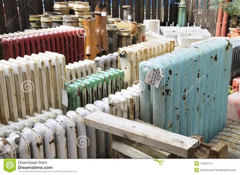 hook salvage yard architectural salvage yard stock photo image of radiators