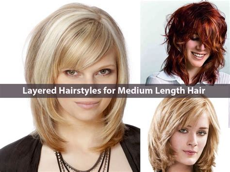 New Years Hairstyles For Medium Length Hair | medium length haircuts with short layers hairs picture