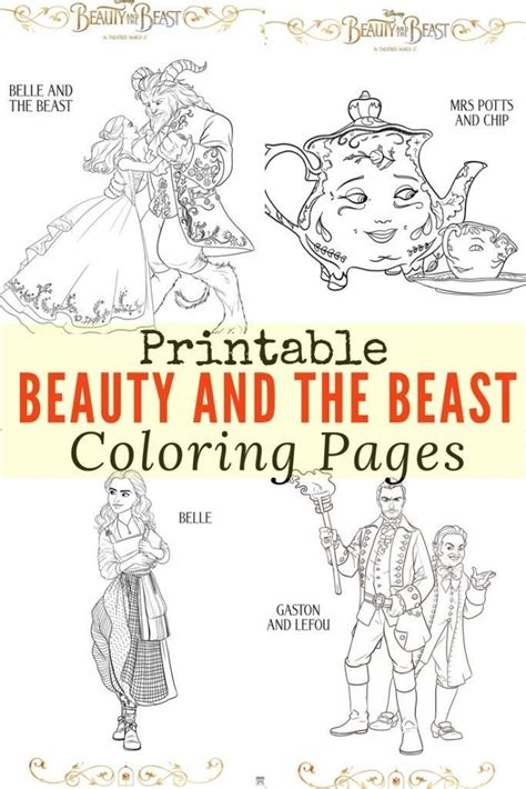 printable version of beauty and the beast free printable beauty and the beast coloring pages beast