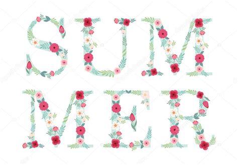 letras decoradas letras decoradas con flores archivo im 225 genes vectoriales