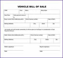 Generic Bill Of Sale Template by Generic Bill Of Sale For Car Letterproposaltemplate