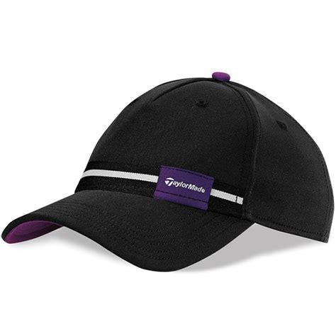 taylormade ribbon golf hat womens black purple at