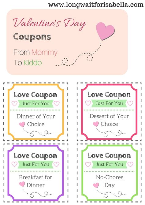 pinterest free printable love coupons printable love coupons for the kids from mommy