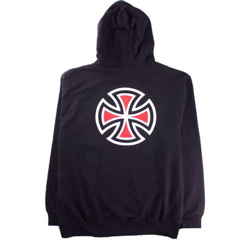 Hoodie Cross independent bar cross pullover hooded sweatshirt black