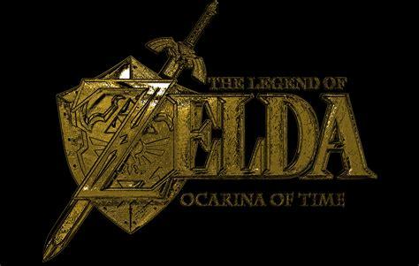 gold zelda wallpaper ocarina of time gold logo chrome by saltso on deviantart