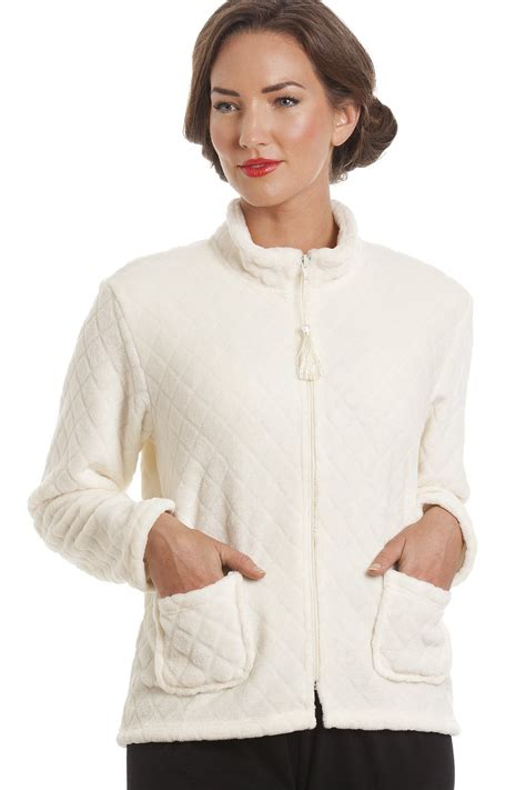 bed jacket ivory supersoft zip up bed jacket