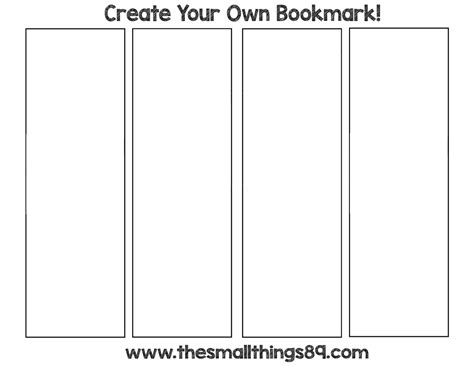 make a bookmark template blank printable bookmarks pictures to pin on