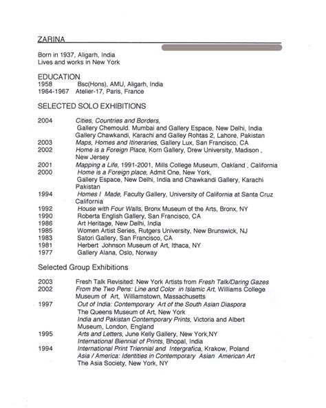 resume american hashmi zarina selected document artasiamerica a