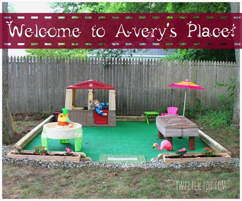 diy backyard play area diy outdoor play space avery s place sweet lil you