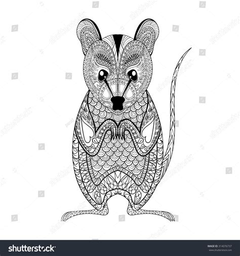anti stress colouring book nz zentangle possum totem anti stress stock vector