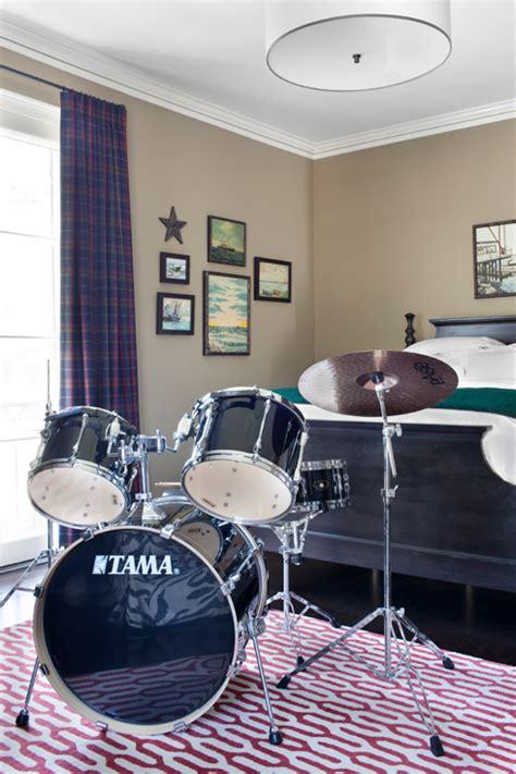 drum decorations for bedroom boy s drum set contemporary boy s room burnham design
