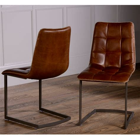 Dining Chair by Dolomite Leather Dining Chair No 44