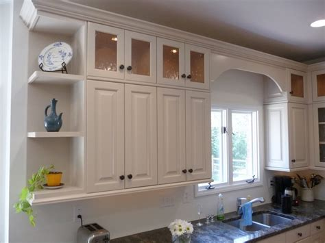 shelves above kitchen cabinets ugly cabinets no more traditional kitchen cabinetry