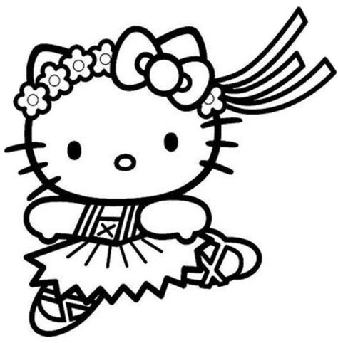 hello kitty cowgirl coloring pages pretty hello kitty coloring page balerina bleupnr