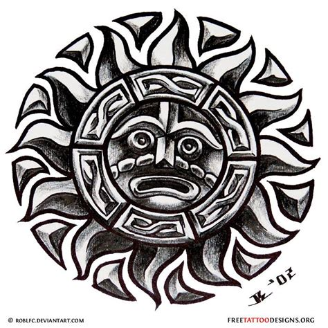 aztec sun tattoo 17 best ideas about aztec designs on
