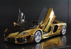 Lamborghini Gold Plated All In One Gold Plated Lamborghini Model Car Worth 7 5m