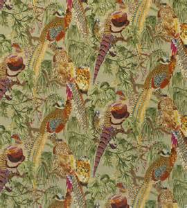 game birds velvet fabric by mulberry home jane clayton