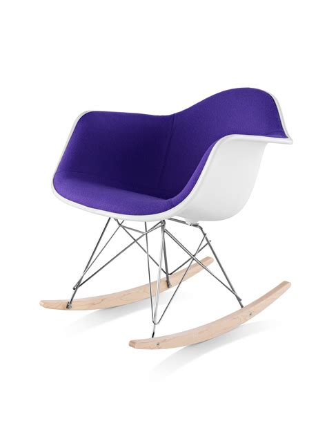 Eames Rocker Chair by Eames Molded Plastic Armchair Rocker Base Upholstered