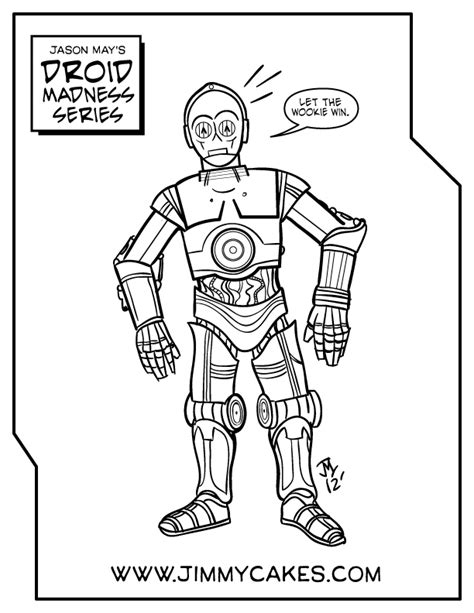 free c3po lego coloring pages