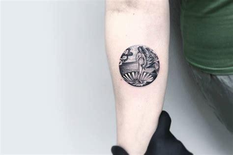 miniature circular tattoos sceneries fubiz media
