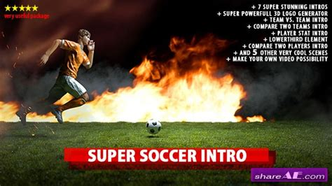 after effects templates free soccer videohive super soccer intro 187 free after effects