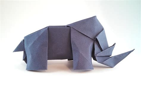How To Make A Rhino Out Of Paper - dollar origami rhino comot