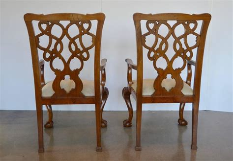 Cowhide Dining Room Chairs Mahogany Chippendale Dining Chairs In Cowhide At 1stdibs
