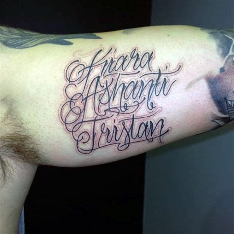 last name tattoos for men 60 name tattoos for lettering design ideas