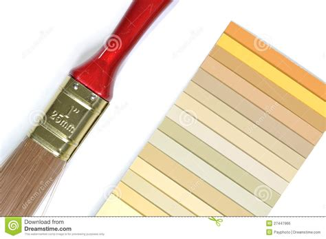 sle colors catalogue and paint brush royalty free stock image image 27447966