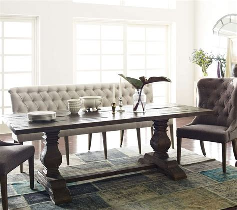 upholstered bench seating dining 25 best ideas about upholstered dining bench on pinterest