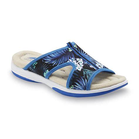 kmart womens sandals athletech s averley sandal blue floral print