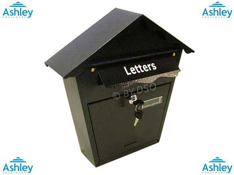 Proof Letter Boxes Housewares Black Weather Proof Lockable Letter Box Mb200 Ebay