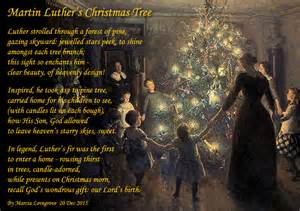 martin luther s christmas tree holiday poems