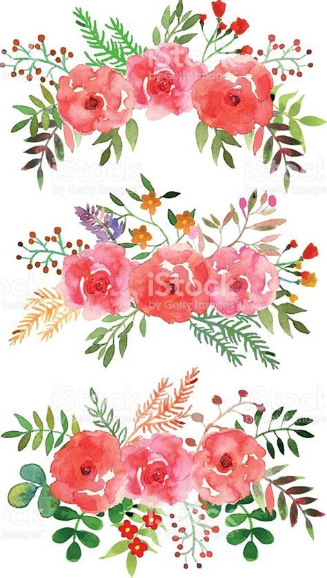 free vector watercolor flowers vector floral set with watercolor flowers stock vector art