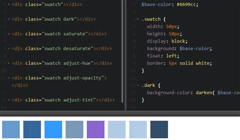 sass color functions 33 open source sass based css code snippets