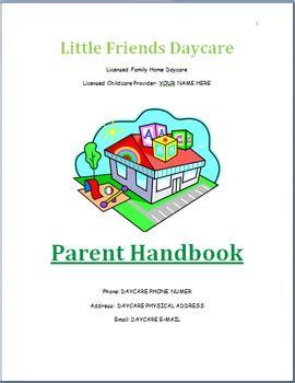 Family Childcare Basic Parent Handbook Template By Miss Rayanna S Classroom Child Care Employee Handbook Template