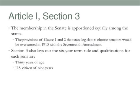 section 3 constitution articles of the constitution